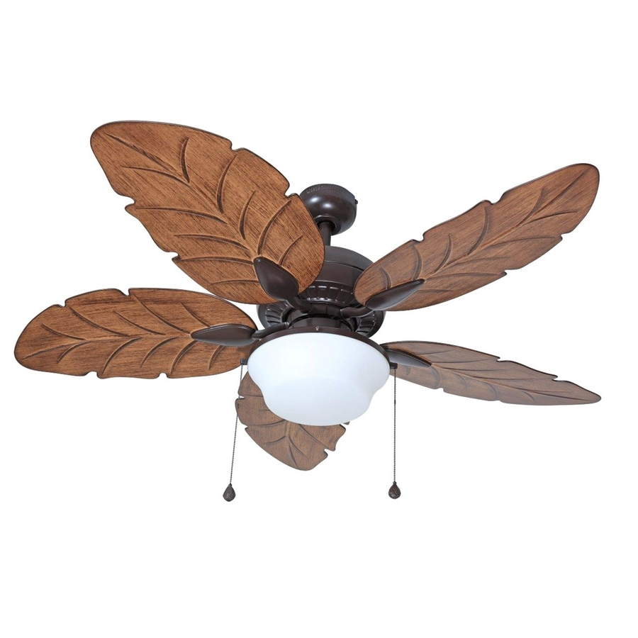Large Outdoor Ceiling Fans With Lights Regarding Most Recently Released Shop Harbor Breeze Waveport 52 In Weathered Bronze Indoor/outdoor (View 14 of 20)