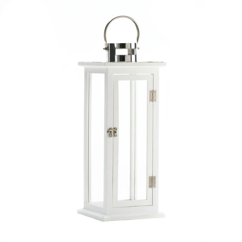 Large Outdoor Decorative Lanterns Throughout Well Known Metal Lanterns, Highland Large Decorative Floor Patio Rustic Outdoor (View 11 of 20)