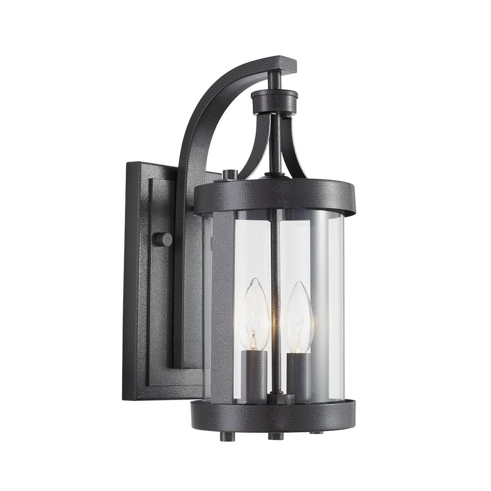 Large Outdoor Lanterns Throughout Most Popular Home Decorators Collection Caged 2 Light Aged Iron Large Outdoor (View 6 of 20)