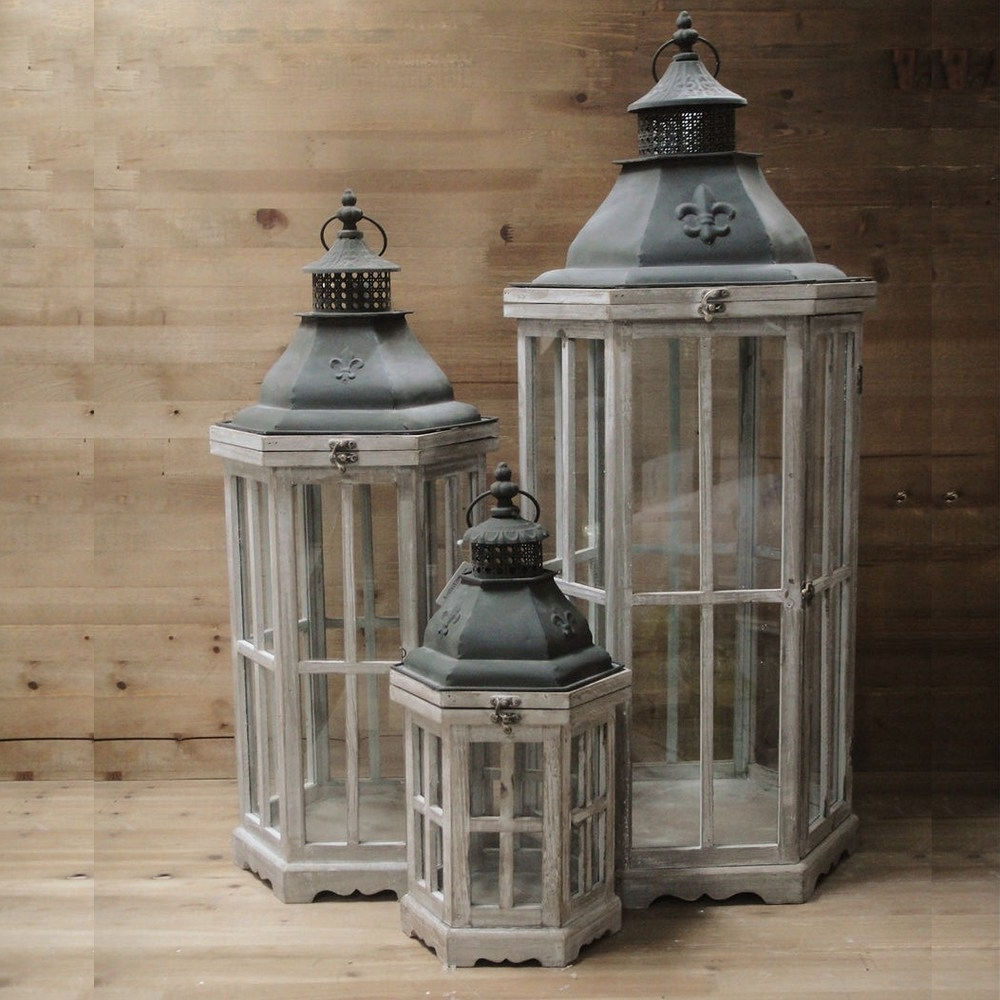 Large Outdoor Rustic Lanterns Pertaining To Well Liked Large Decorative Lanterns For Outdoor Candles (View 9 of 20)