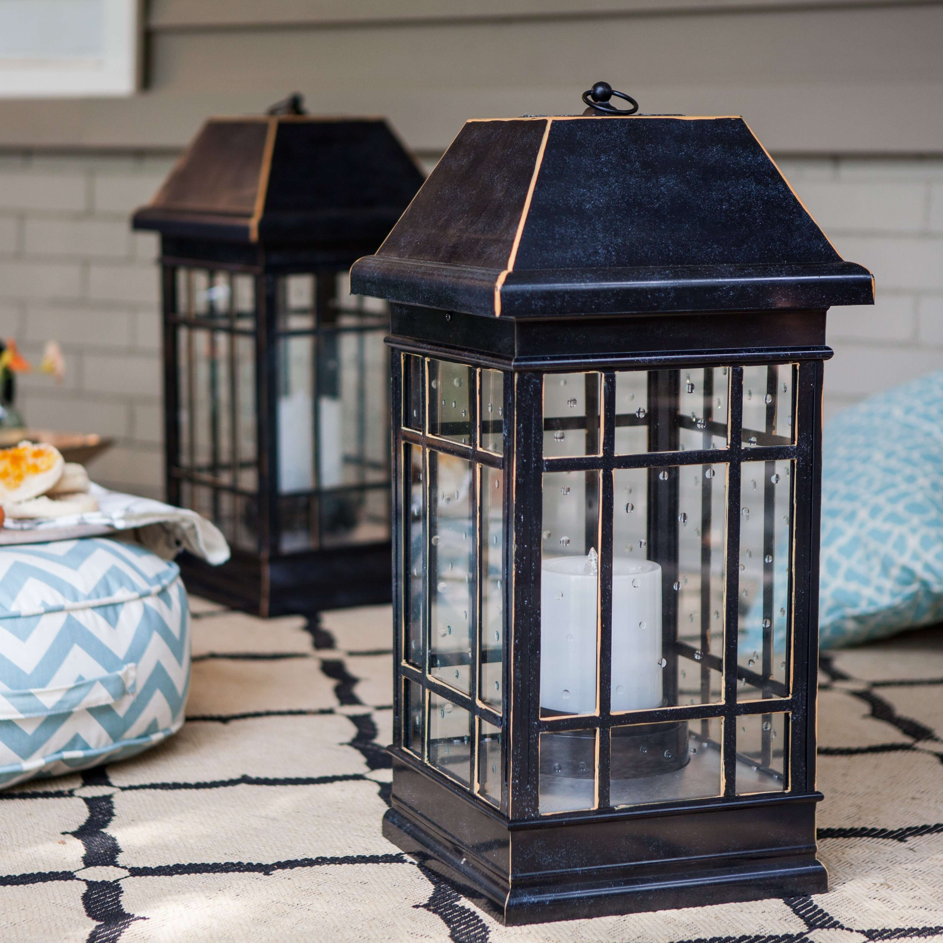 Large Outdoor Rustic Lanterns Regarding 2019 Smart Solar San Rafael Estate Solar Mission Lantern (View 10 of 20)
