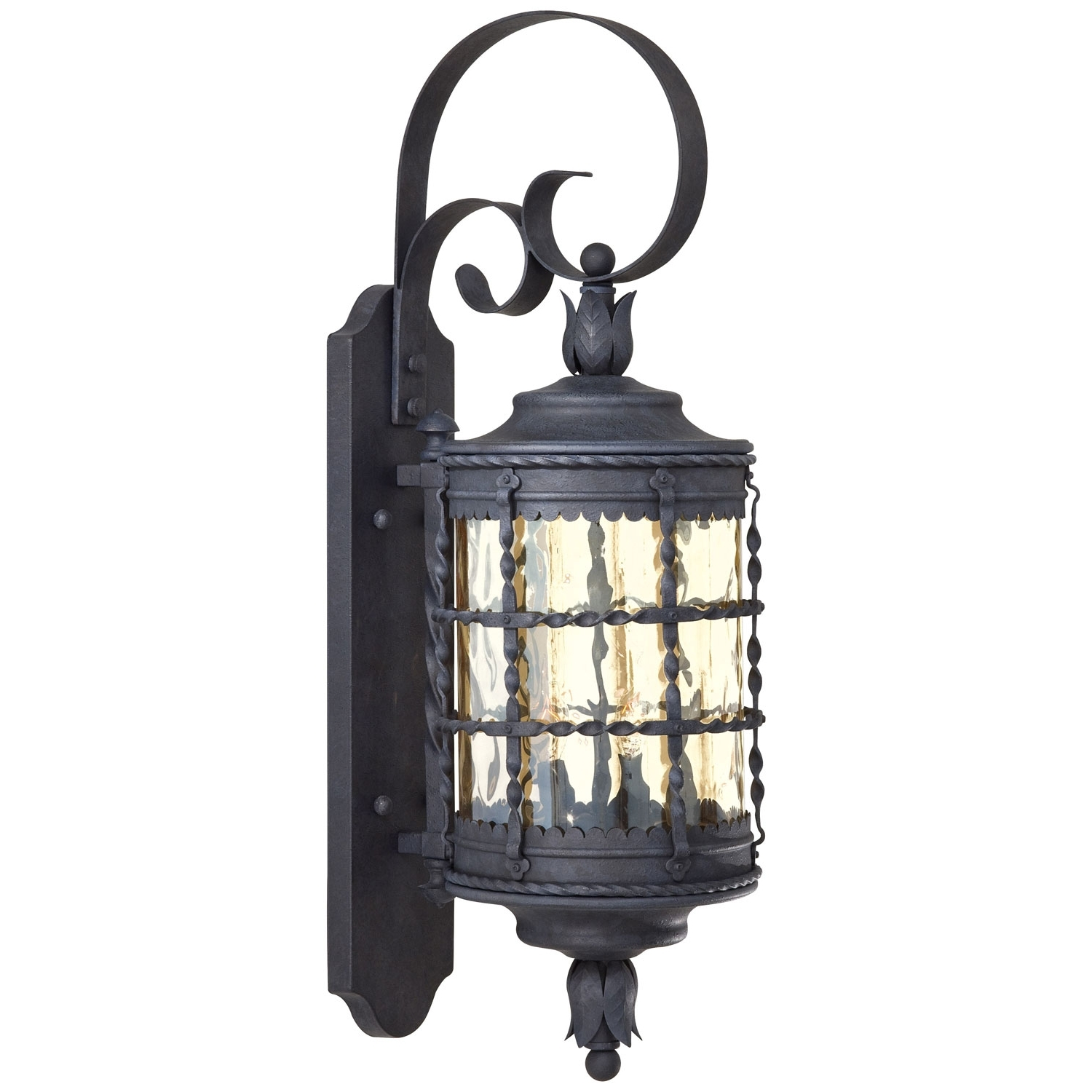 Large Outdoor Wall Lanterns Regarding 2019 Minka Lavery Mallorca Exterior Wall Mount 8881 A (View 8 of 20)