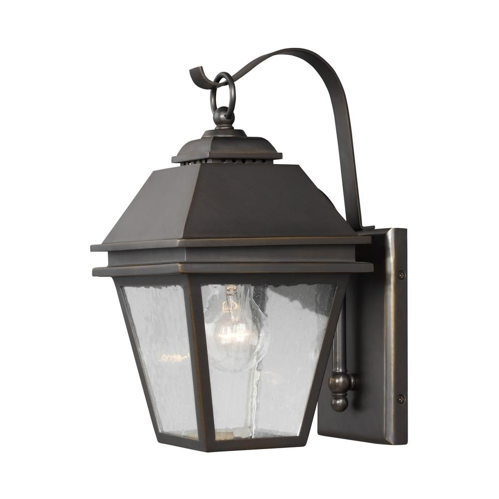 Latest Antique Outdoor Lanterns Intended For Herald 1 Light Antique Bronze Outdoor Wall Lantern (View 9 of 20)
