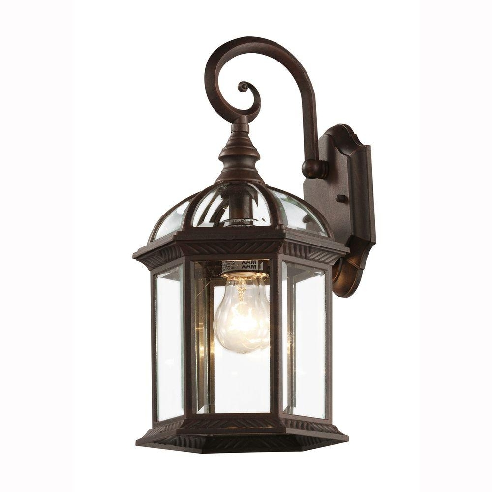 Latest Bel Air Lighting Wall Mount 1 Light Outdoor Rust Coach Lantern With With Outdoor Lanterns Without Glass (View 12 of 20)
