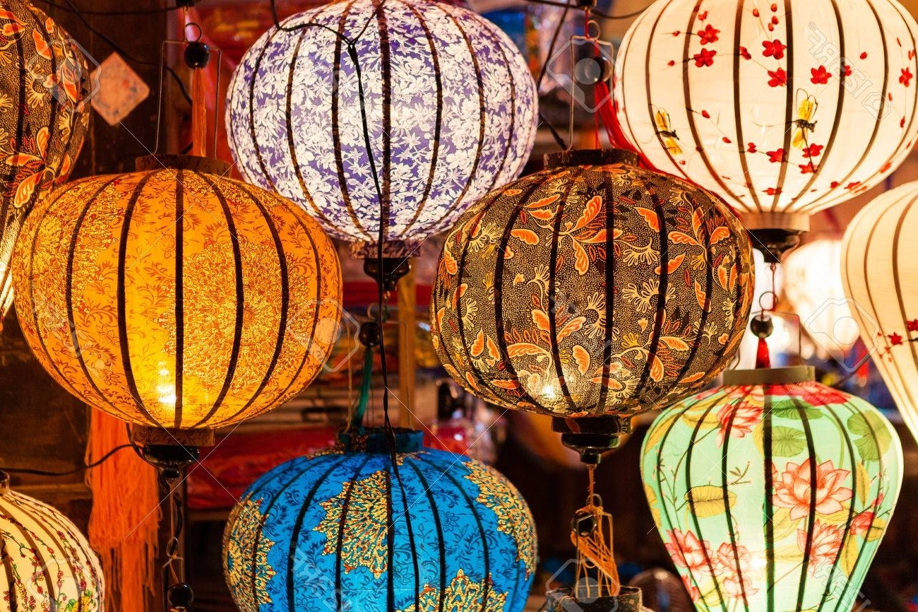 Latest Colorful Traditional Vietnam Lanterns Stock Photo, Picture And With Regard To Outdoor Vietnamese Lanterns (View 6 of 20)
