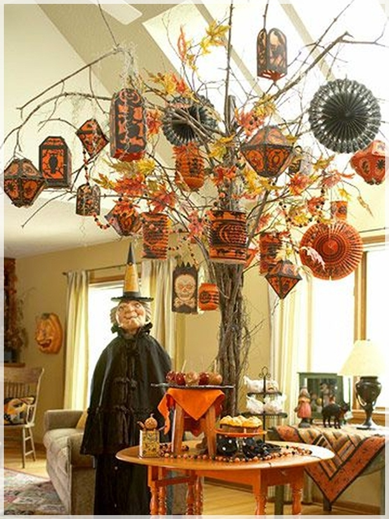 Latest Complete List Of Halloween Decorations Ideas In Your Home Within Outdoor Halloween Lanterns (View 7 of 20)