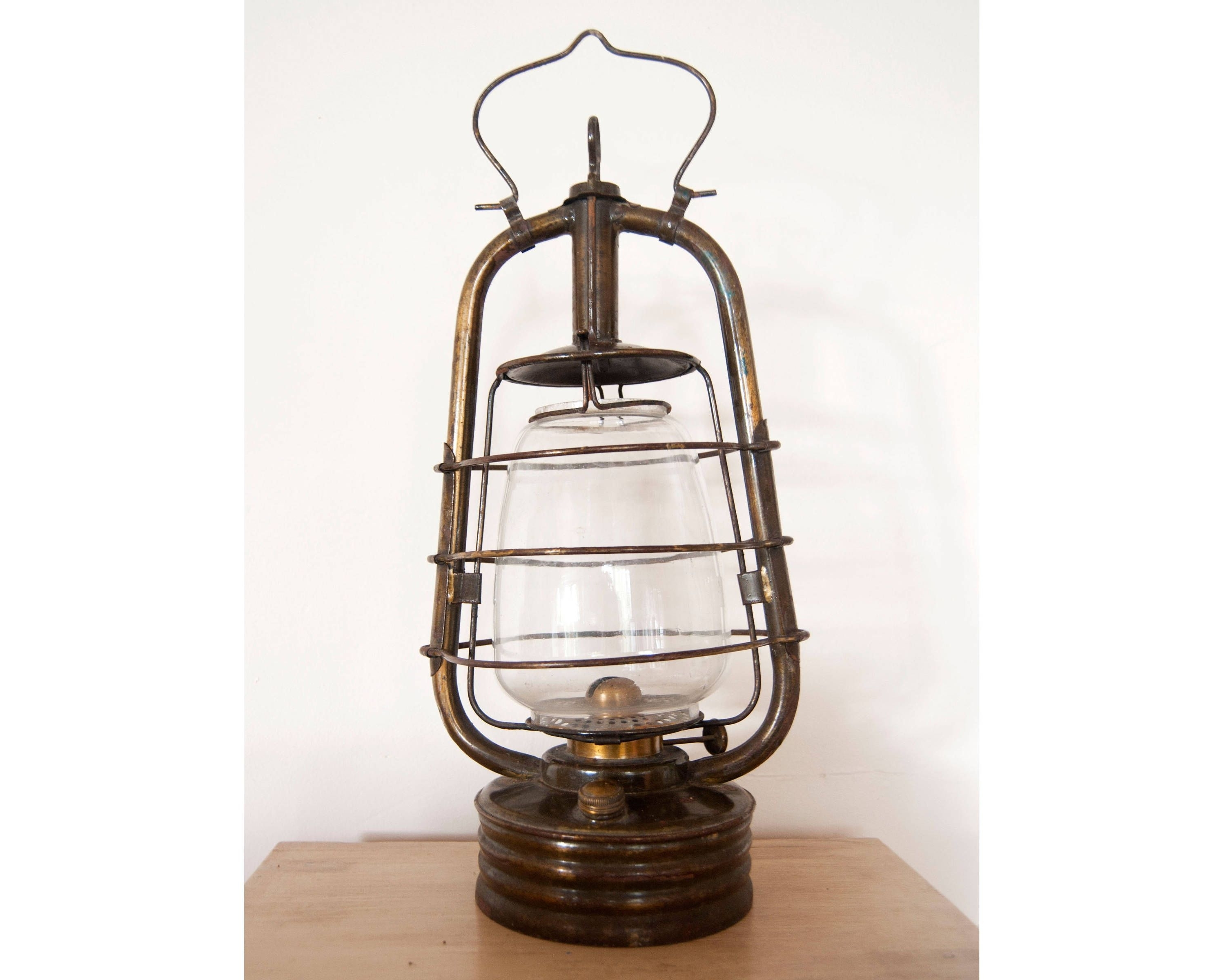 Latest Decorative Outdoor Kerosene Lanterns Intended For Vintage Lantern Oil Lamp – Antique French Hurricane Brass Lamp (View 12 of 20)