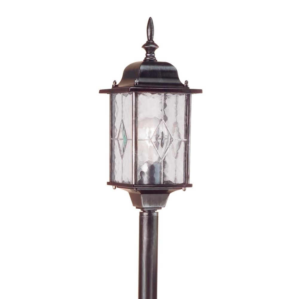 Latest Elstead Lighting Wexford Outdoor Pillar Lantern – Fitting Type From Inside Outdoor Pillar Lanterns (View 2 of 20)
