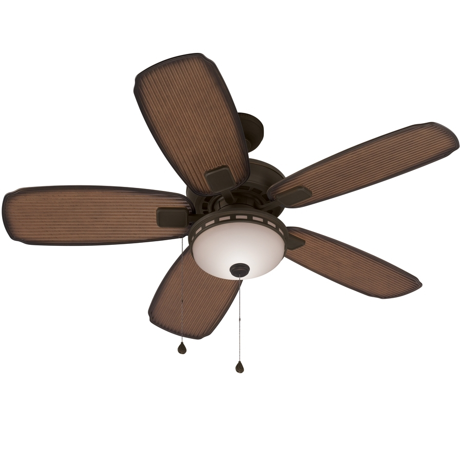 Latest Harbor Breeze Outdoor Ceiling Fans Throughout Shop Harbor Breeze Oyster Cove 52 In Aged Bronze Downrod Or Close (View 5 of 20)