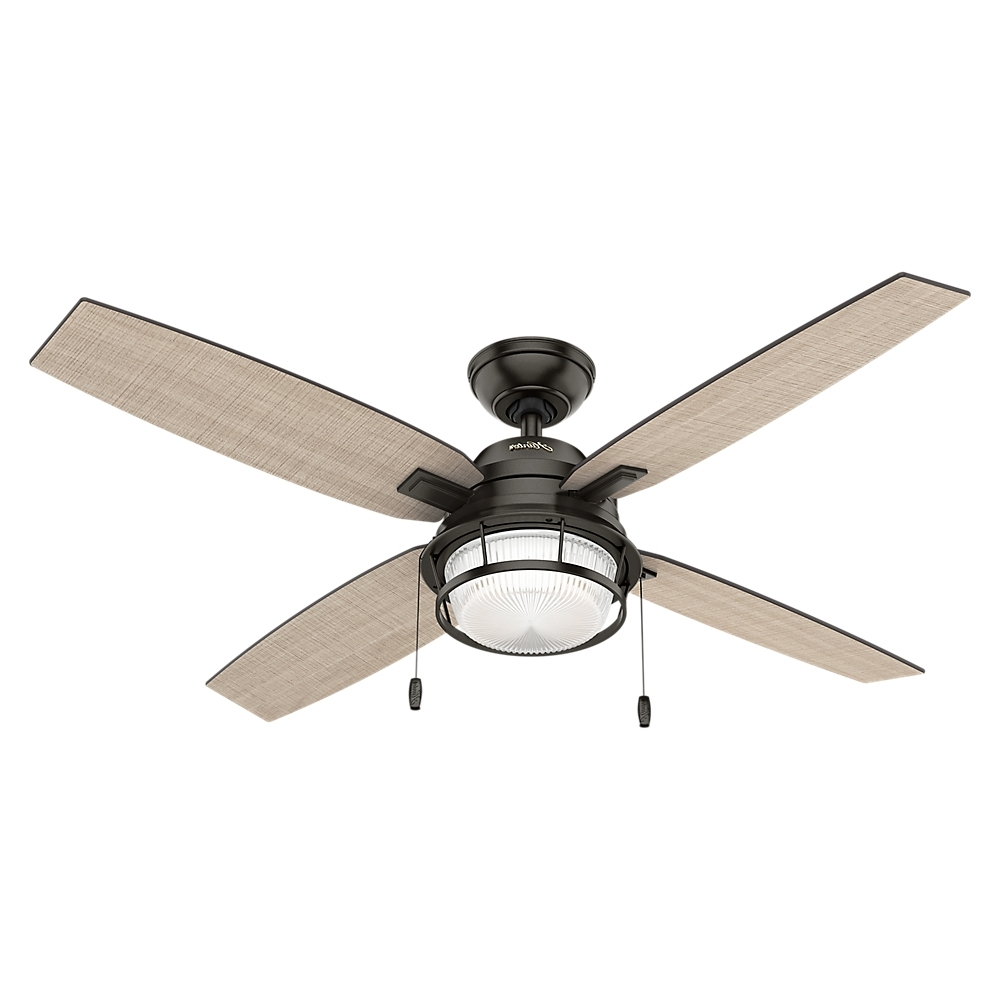 "Latest Hunter 52"" Ocala Noble Bronze Ceiling Fan With Light – Walmart In Bronze Outdoor Ceiling Fans With Light (View 12 of 20)"