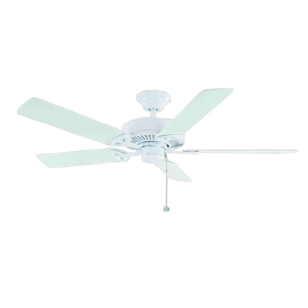 Latest Hunter – Outdoor – Ceiling Fans – Lighting – The Home Depot In Outdoor Ceiling Fans For High Wind Areas (View 16 of 20)