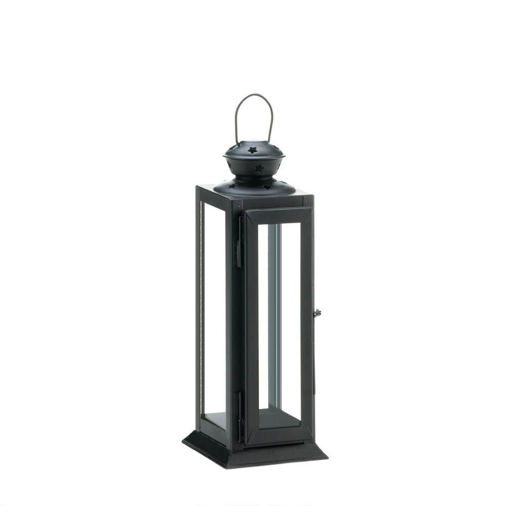 Latest Metal Lantern Candle Holder, Decorative Black Candle Holder Lantern For Outdoor Metal Lanterns For Candles (Gallery 7 of 20)