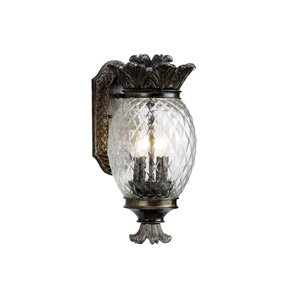 Latest Monteaux Lighting Wall Mount Bronze Outdoor Small Pineapple Coach Throughout Outdoor Pineapple Lanterns (View 6 of 20)