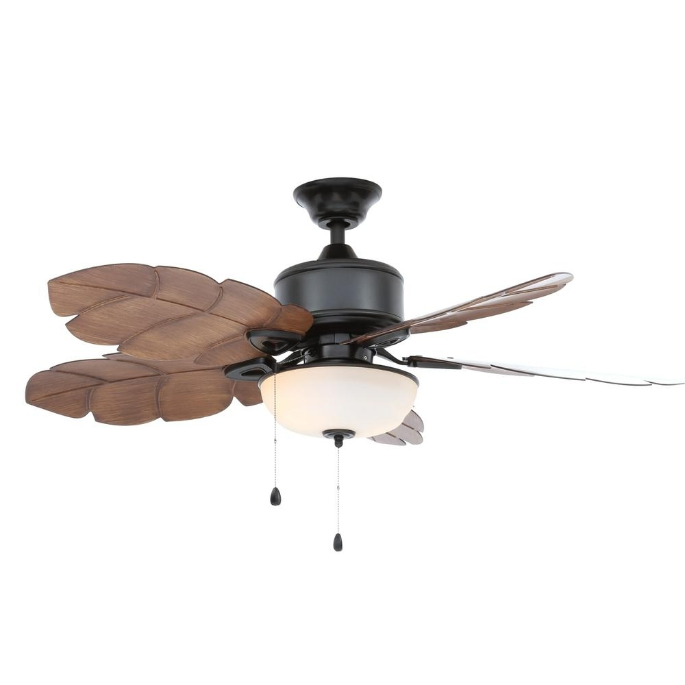 Latest Outdoor Ceiling Fan Light Fixtures With Regard To Home Decorators Collection Palm Cove 52 In (View 9 of 20)