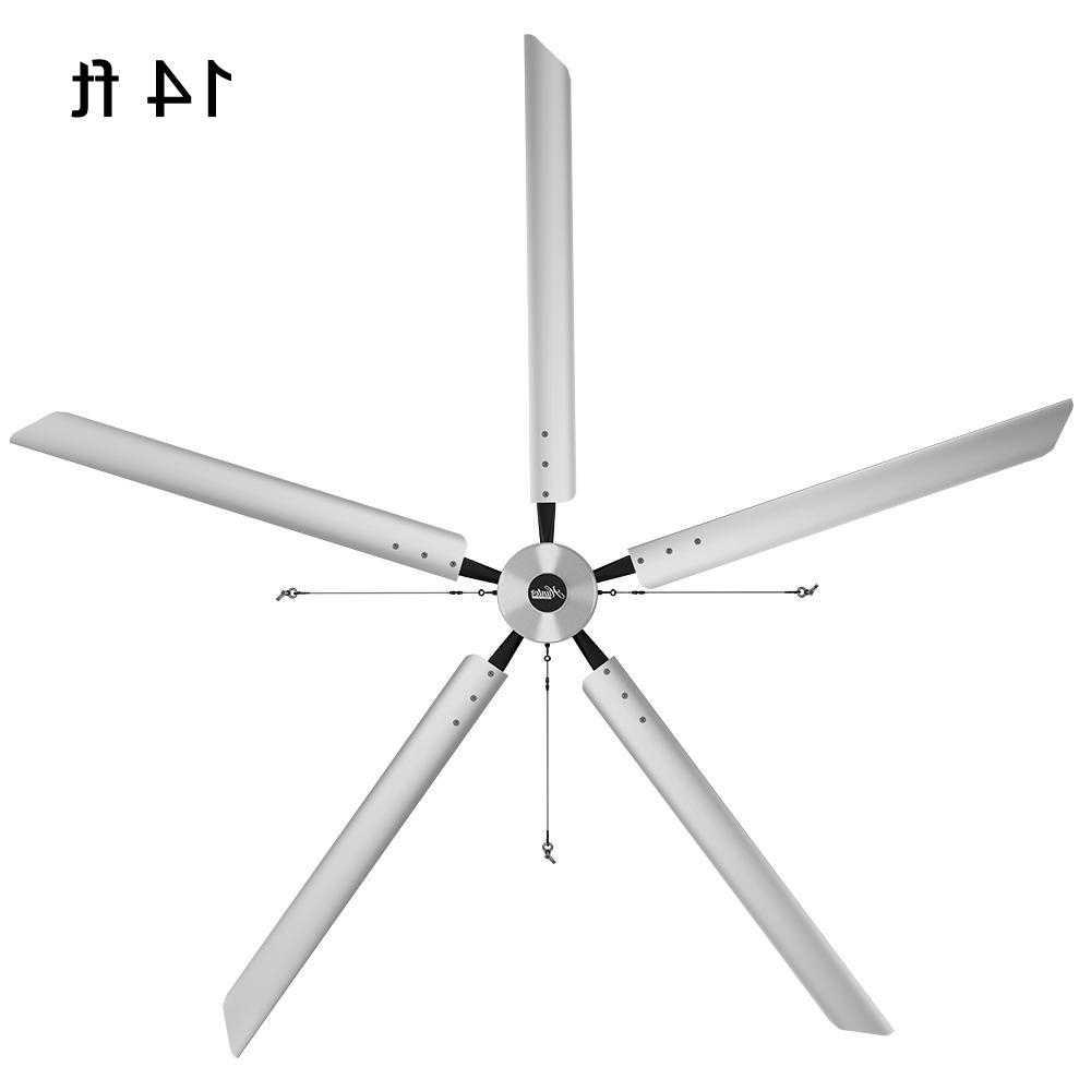 Latest Outdoor Ceiling Fans With Aluminum Blades With Hunter Industrial Titan 14 Ft (View 8 of 20)