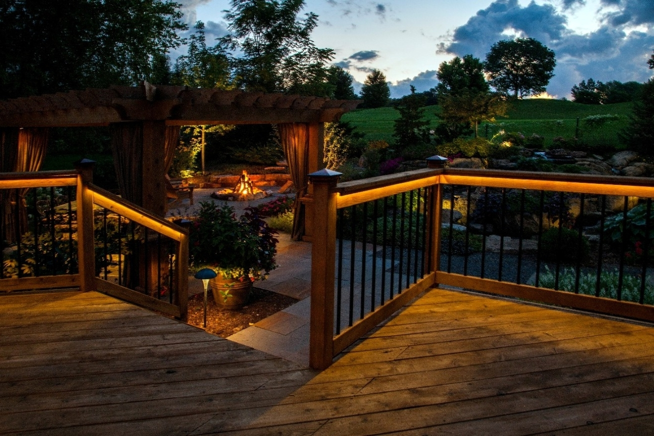 Latest Outdoor Deck Lanterns With Regard To Rope Light Solar Deck Lighting Ideas – Missouri City Ballet (View 13 of 20)