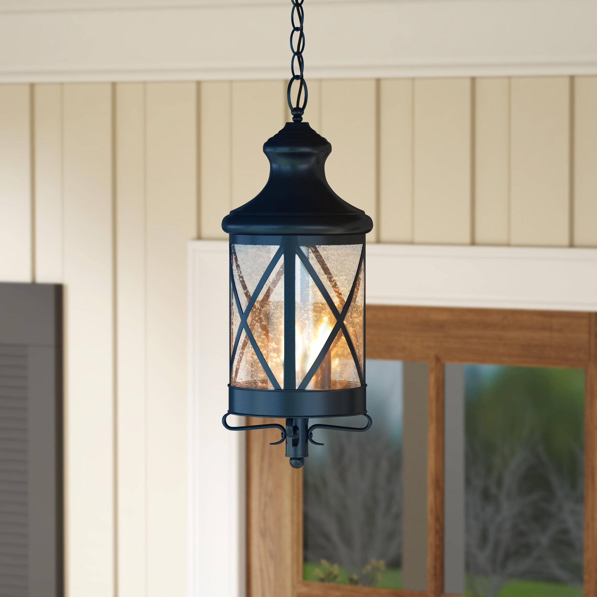 Latest Outdoor Hanging Electric Lanterns Inside Gracie Oaks Luqi 3 Light Outdoor Hanging Lantern & Reviews (Gallery 13 of 20)
