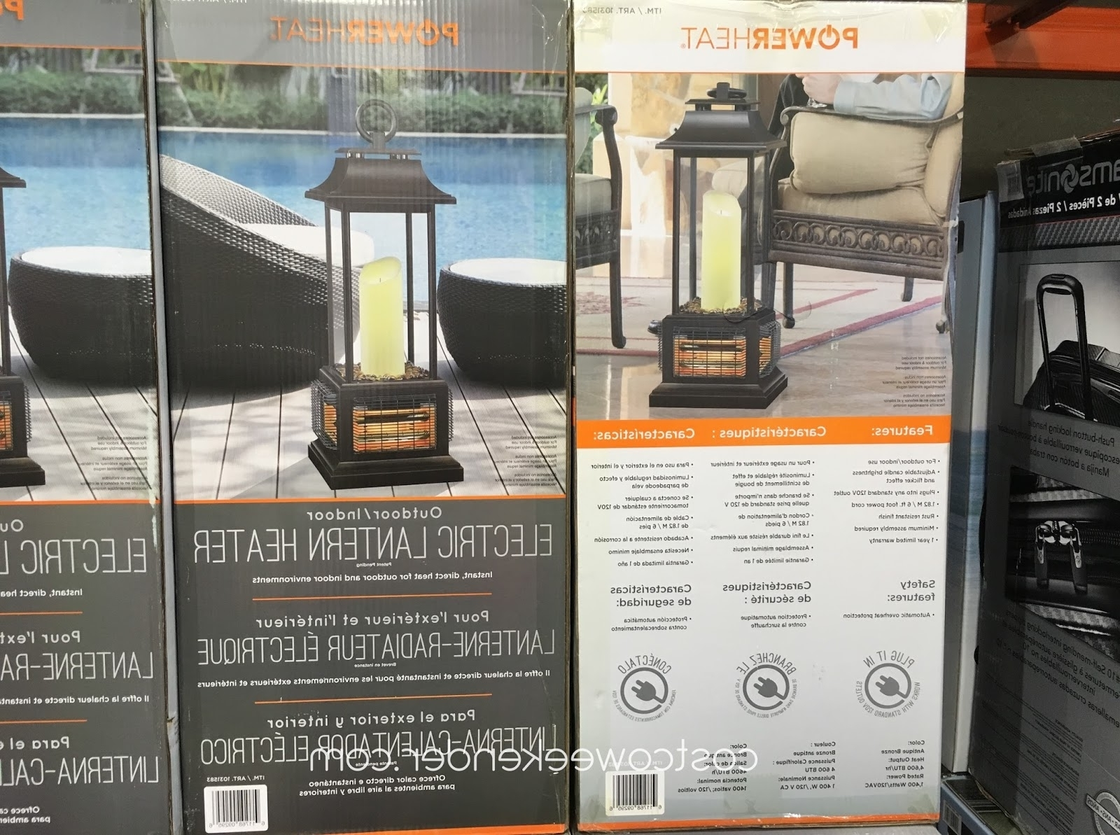Latest Outdoor Patio Electric Lanterns In Powerheat Outdoor/indoor Electric Lantern Heater (Gallery 7 of 20)