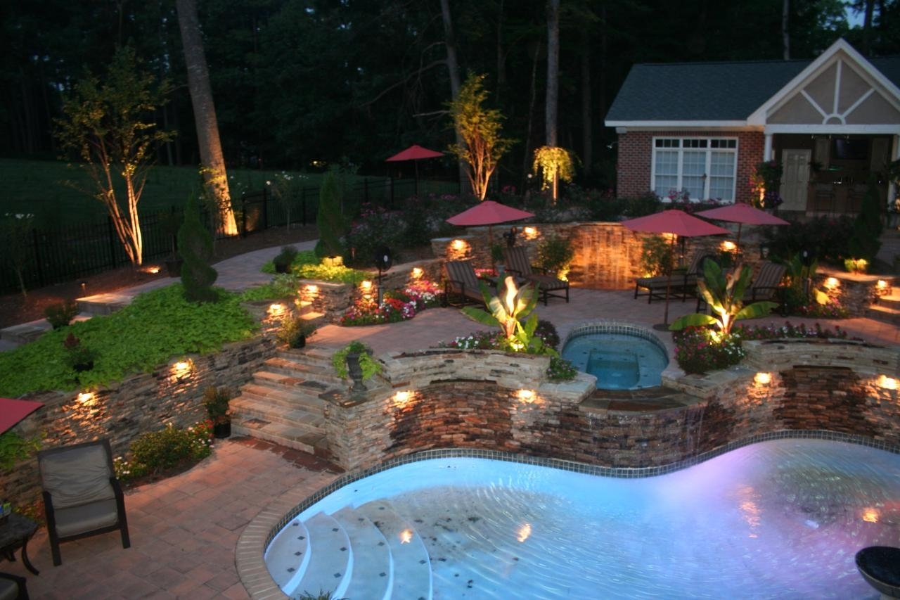 Latest Outdoor Pool Lanterns Regarding Diy Outdoor Landscape Lighting Hanging Lanterns Ideas Pictures (Gallery 18 of 20)