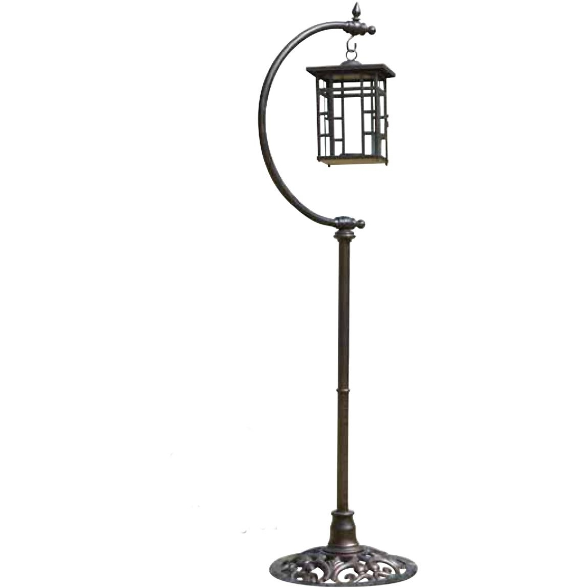 Latest Outdoor Standing Lanterns For Woodard® Outdoor Free Standing Lantern – 218341, Patio Furniture At (Gallery 1 of 20)