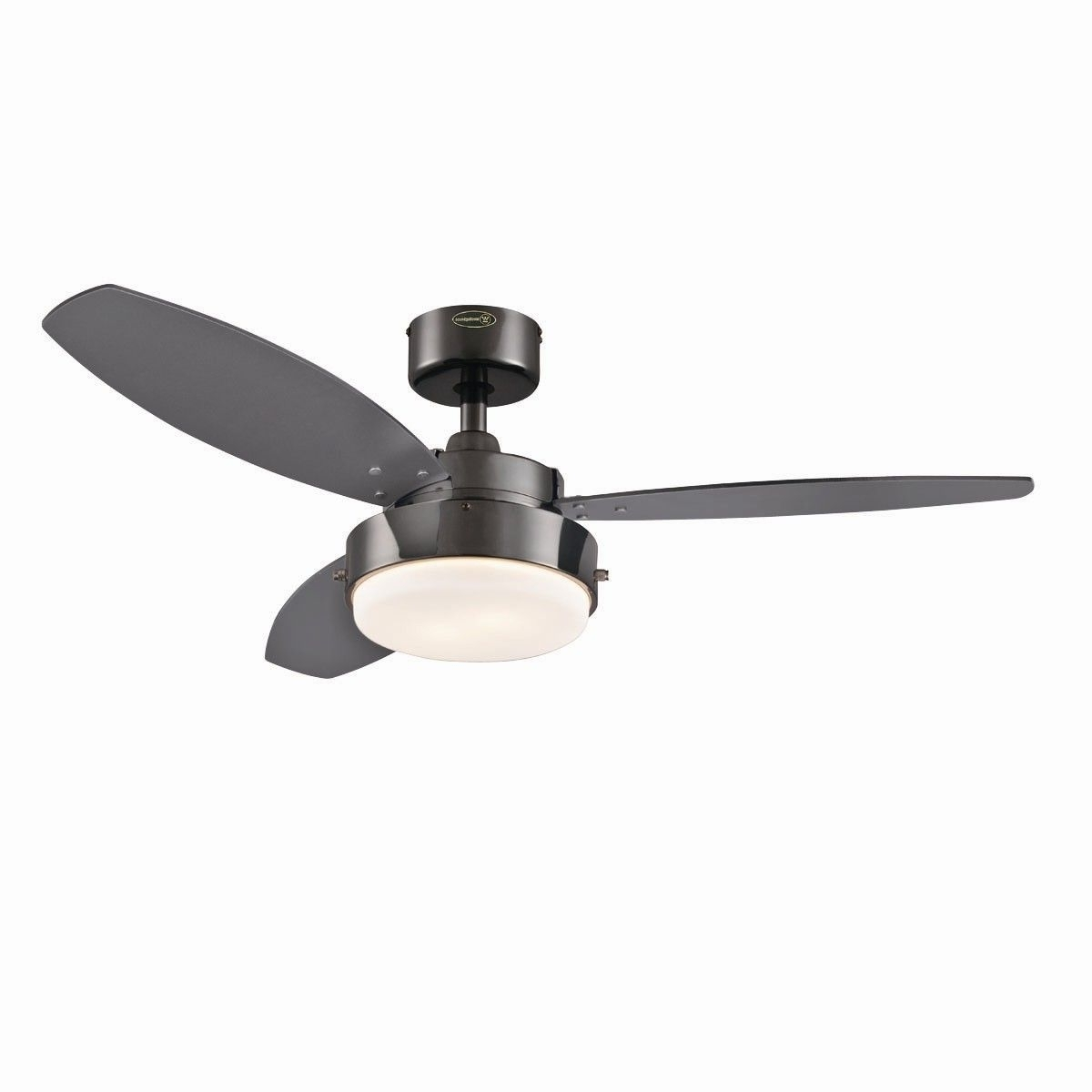 "Latest Wayfair Outdoor Ceiling Fans With Lights In Westinghouse Lighting 42"" Alloy 3 Reversible Blade Ceiling Fan (View 12 of 20)"