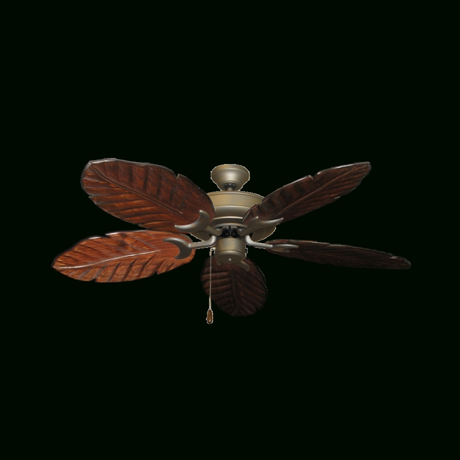 Leaf Blades Outdoor Ceiling Fans With Regard To Well Liked Outdoor Ceiling Fan, Gulf Coast Raindance (View 19 of 20)