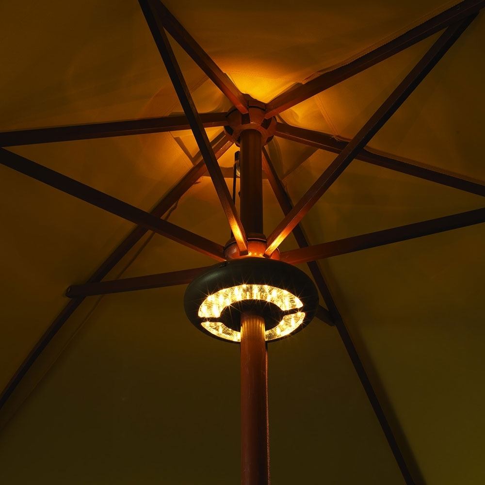 Led Umbrella Light – Battery Operated With Regard To Preferred Outdoor Battery Lanterns For Patio (View 9 of 20)