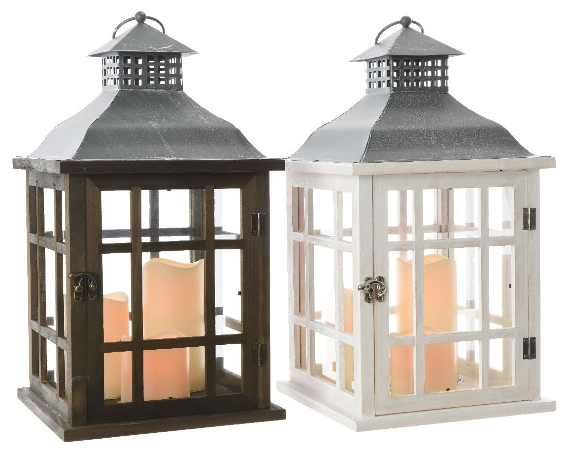 Led Wooden Outdoor With Regard To Outdoor Lanterns With Led Candles (View 9 of 20)