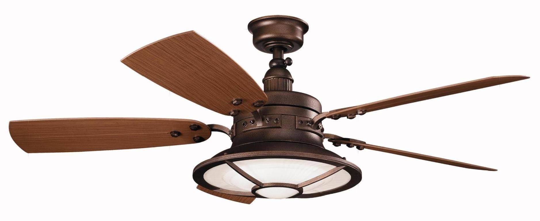 Light : Kichler Fan Led Lighting Ceiling Fans Waterproof Outdoor Within Favorite Waterproof Outdoor Ceiling Fans (View 6 of 20)