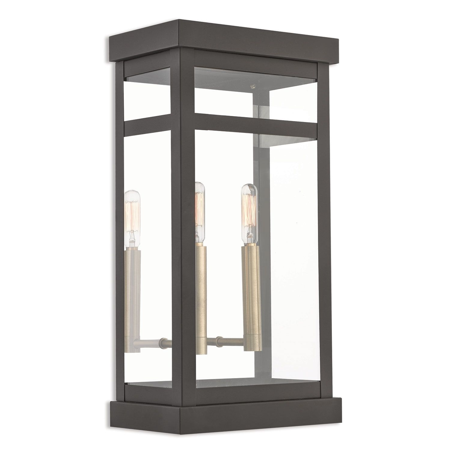 Livex Lighting Hopewell Bronze 18 Inch Two Light Outdoor Wall Intended For Most Recent Outdoor Mounted Lanterns (View 5 of 20)