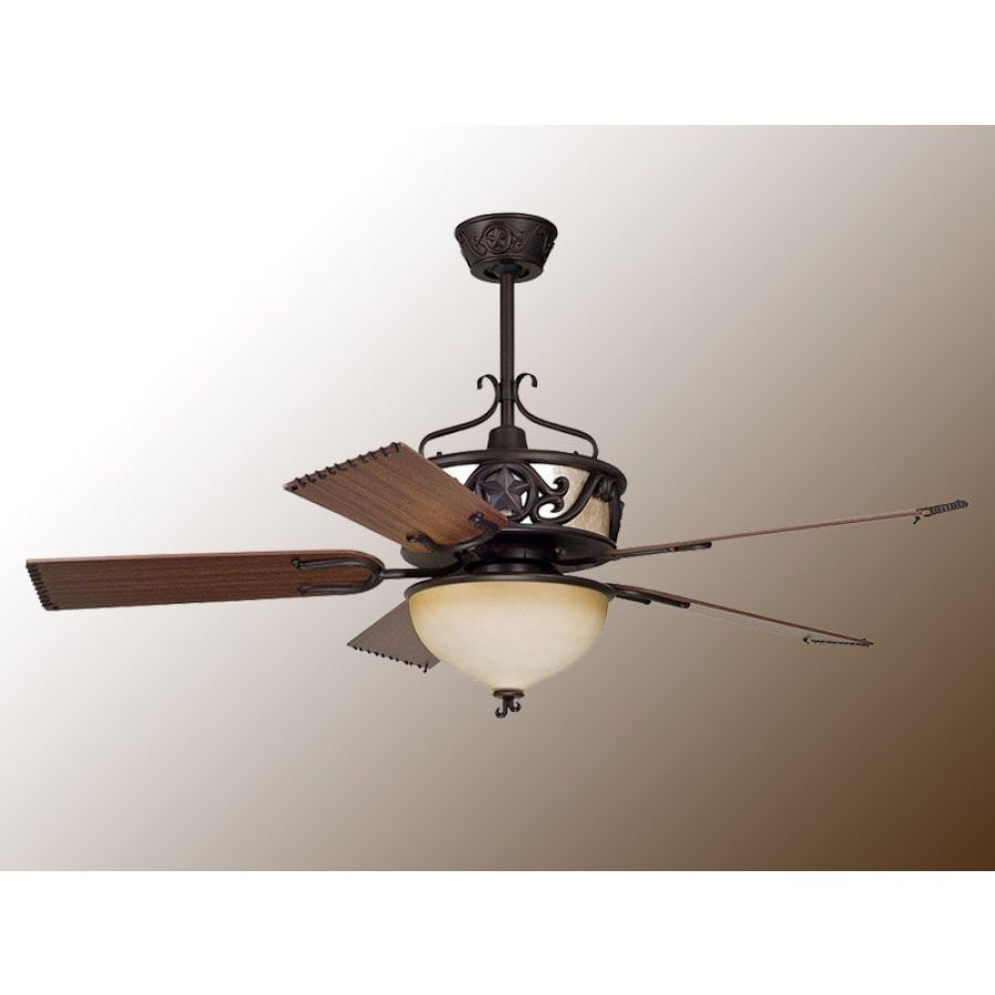 Lone Starellington – Rustic Ceiling Fan W/light Kit For Newest Ellington Outdoor Ceiling Fans (View 14 of 20)
