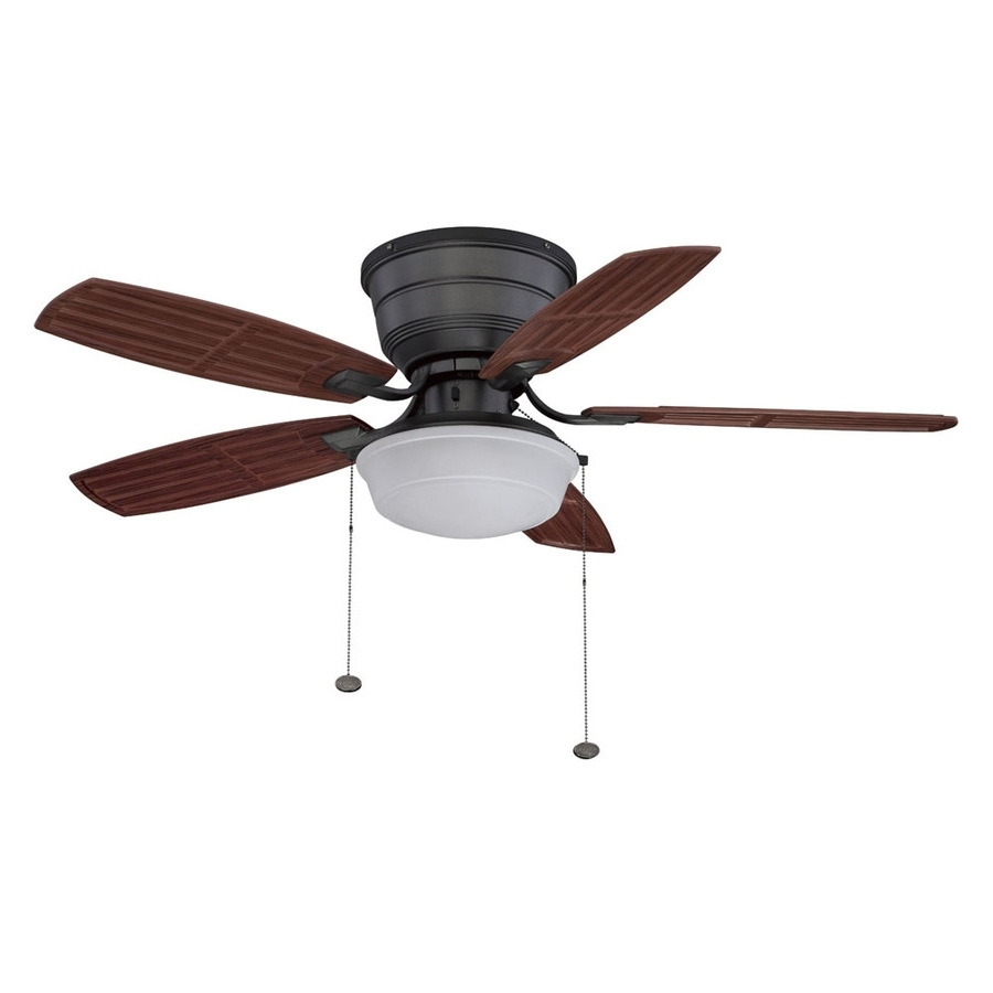 Low Profile Outdoor Ceiling Fans With Lights Intended For Best And Newest Lowes Outdoor Ceiling Fans With Lights Popular Lowes Ceiling Fans (View 8 of 20)