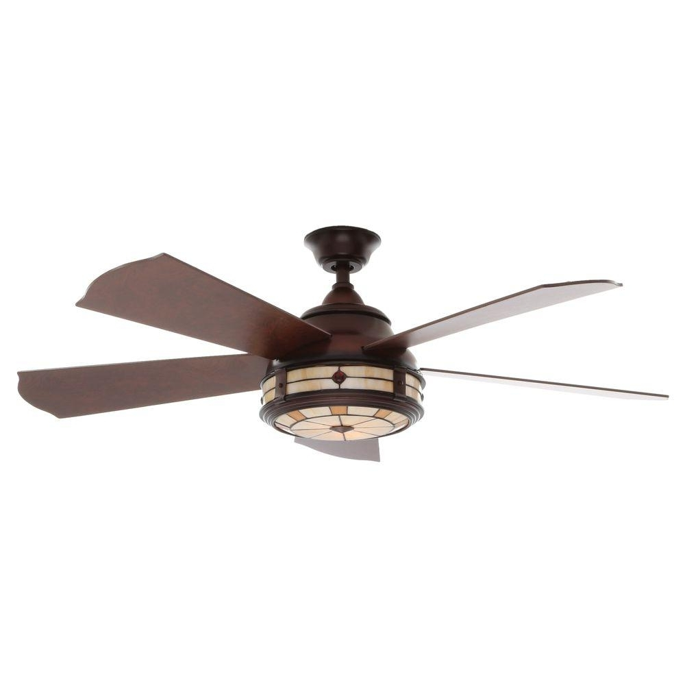 Low Profile Outdoor Ceiling Fans With Lights Pertaining To 2018 Decorations: Low Profile Ceiling Fan Home Depot Collections (View 14 of 20)