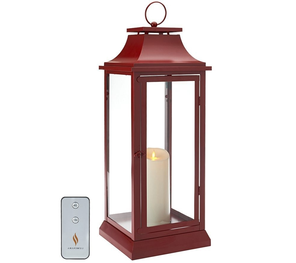 "Luminara 25"" Heritage Indoor Outdoor Lantern With Flameless Candle Within Favorite Outdoor Lanterns With Battery Operated Candles (View 9 of 20)"