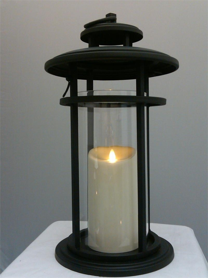 Luminara Flameless Candle Battery Powered Outdoor Black Cylinder With Regard To Preferred Outdoor Luminara Lanterns (View 8 of 20)