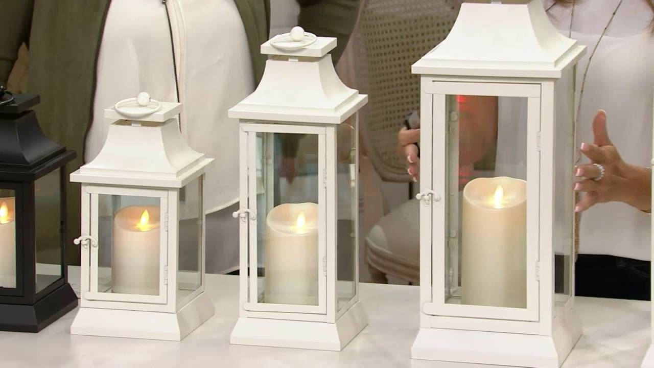 Luminara Heritage Indoor Outdoor Lantern With Flameless Candle Throughout Fashionable Outdoor Luminara Lanterns (Gallery 2 of 20)
