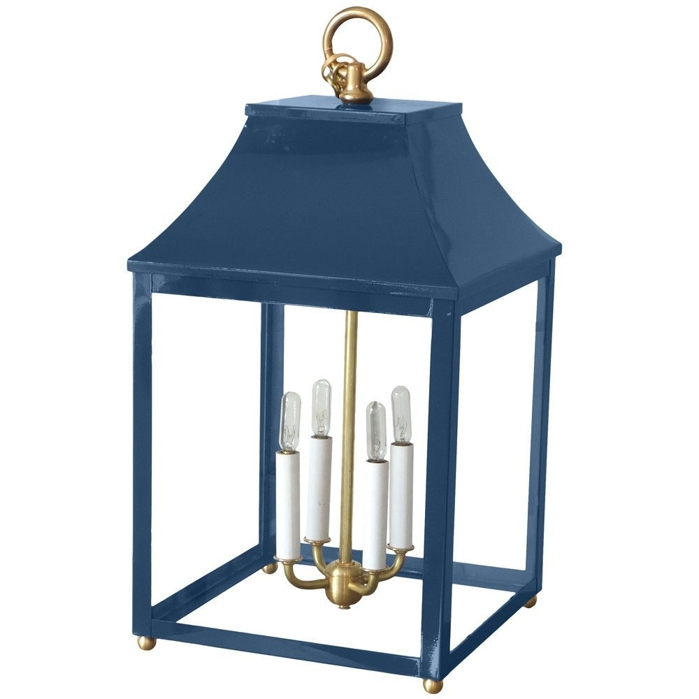 Macnaughton With Blue Outdoor Lanterns (Gallery 7 of 20)