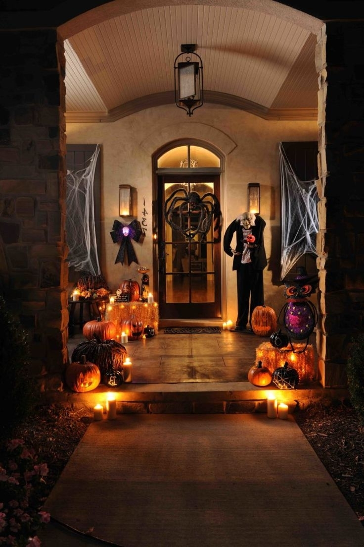 Memorable Halloween With Spooky Outdoor Decorations At Hometren Throughout 2018 Outdoor Halloween Lanterns (View 16 of 20)