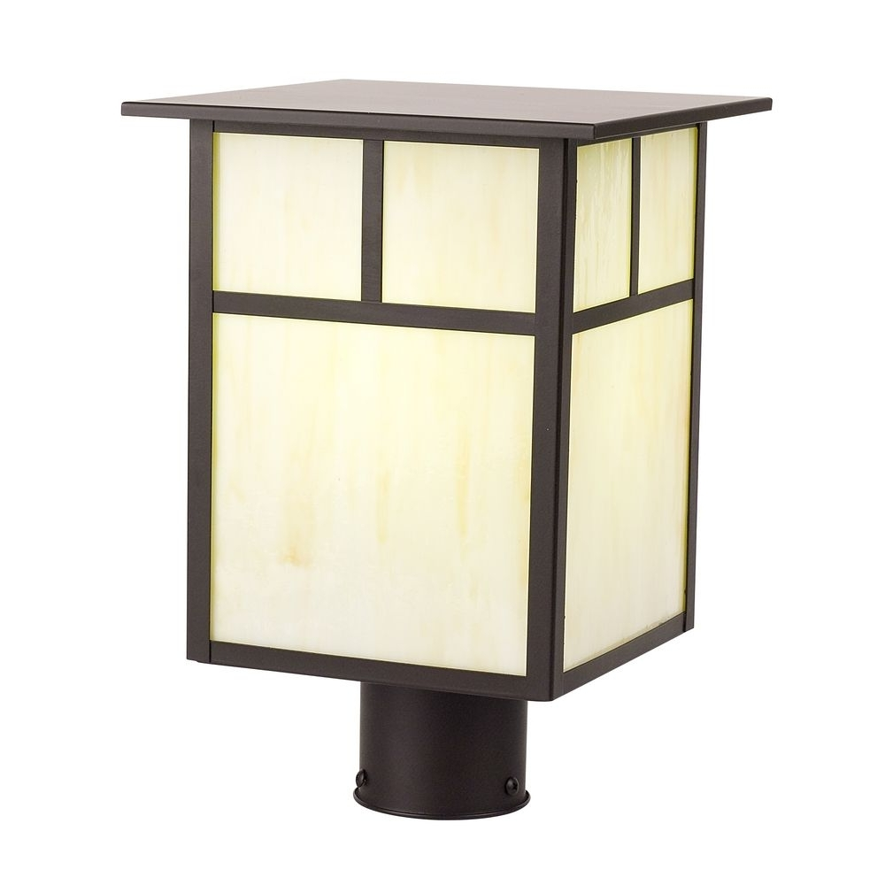 Menards Outdoor Lighting Led Motion Sensor Landscaping Lights Patio In Widely Used Outdoor Lanterns On Post (View 8 of 20)