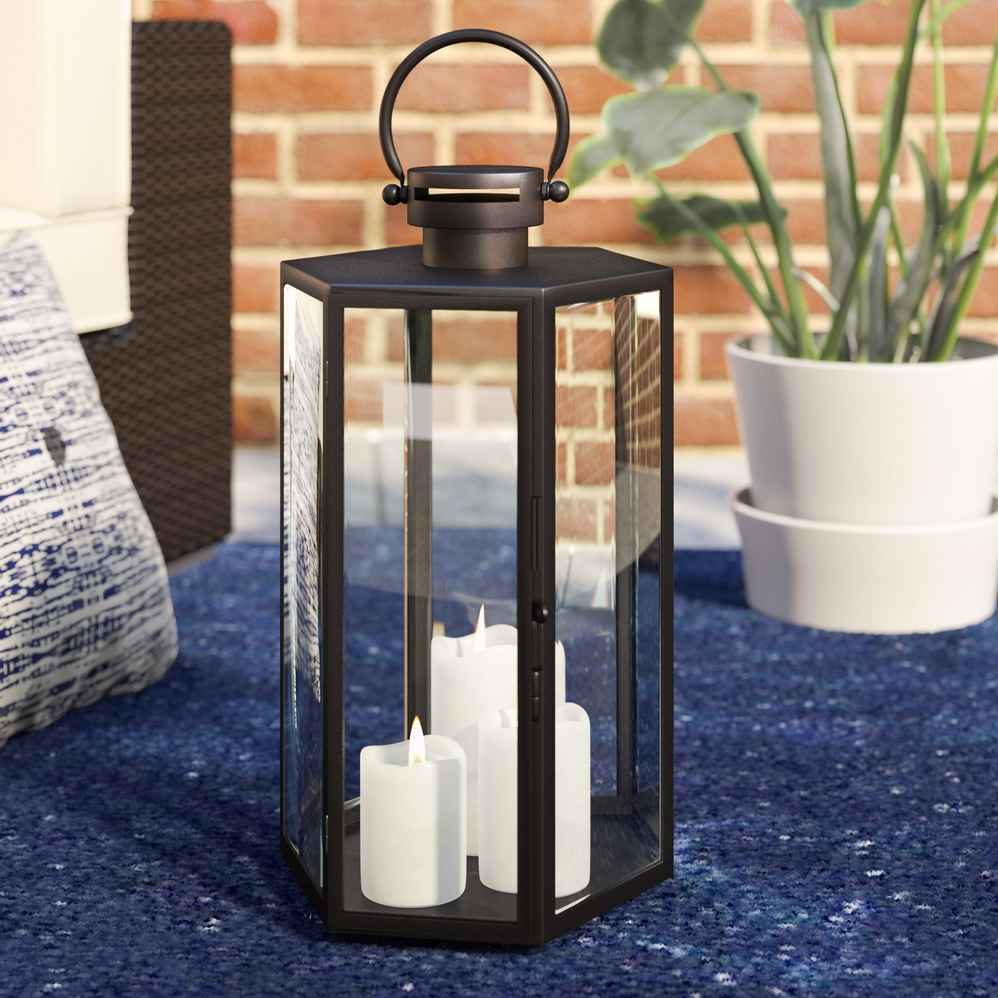 Mercury Row Outdoor Glass And Metal Lantern (View 7 of 20)