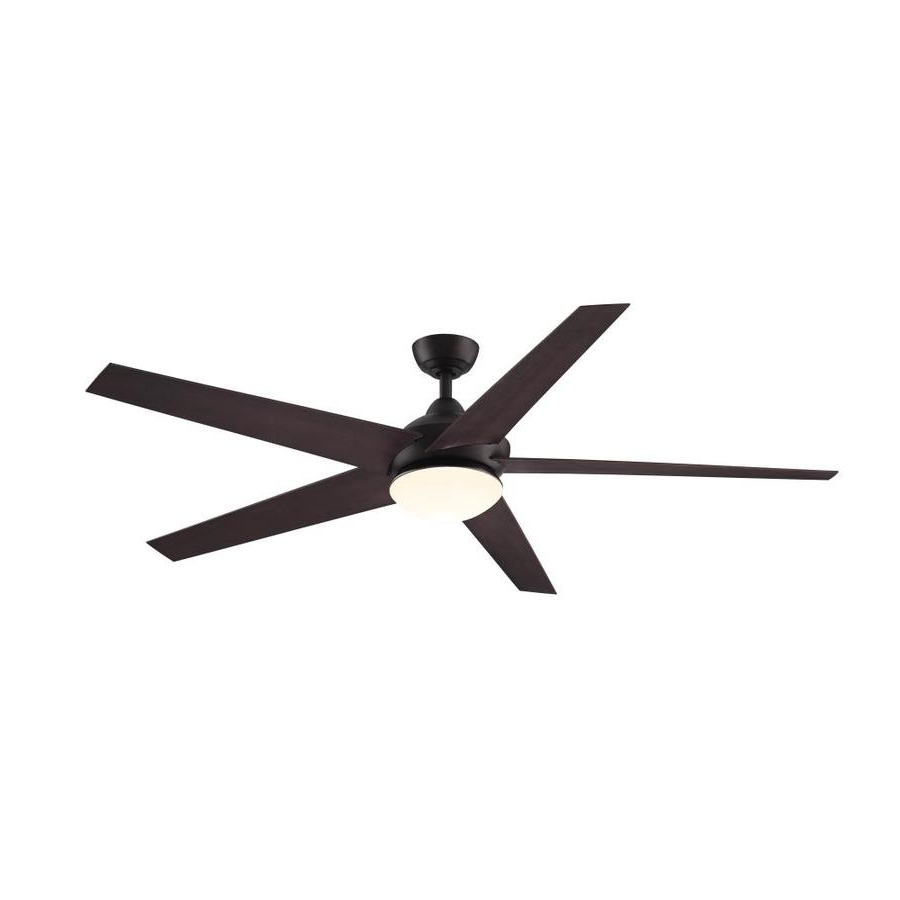 Metal Outdoor Ceiling Fans With Light Within Trendy Shop Ceiling Fans At Lowes (View 10 of 20)
