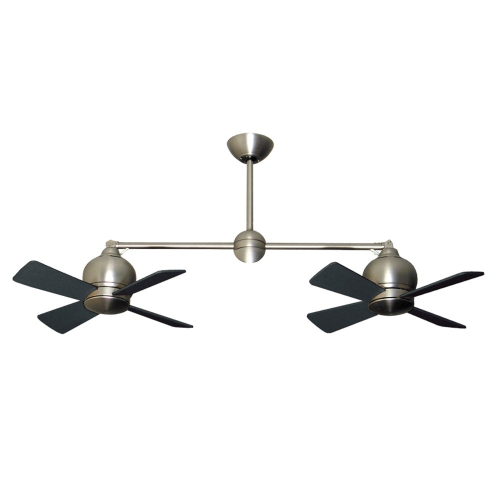 Metropolitan Dual Motor Ceiling Fan – Modern Styling With Halogen Inside Widely Used Dual Outdoor Ceiling Fans With Lights (View 15 of 20)