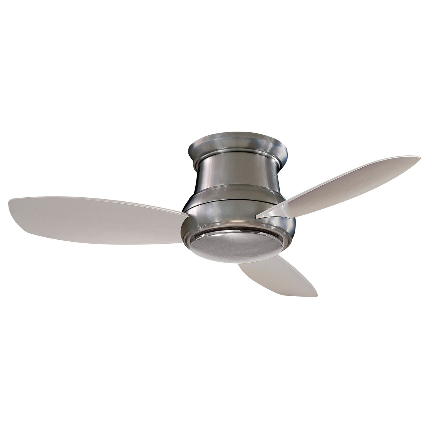 Minka Aire Concept Ii Brushed Nickel 44 Inch Flush Led Ceiling Fan In Fashionable Outdoor Ceiling Fans With Led Globe (View 12 of 20)