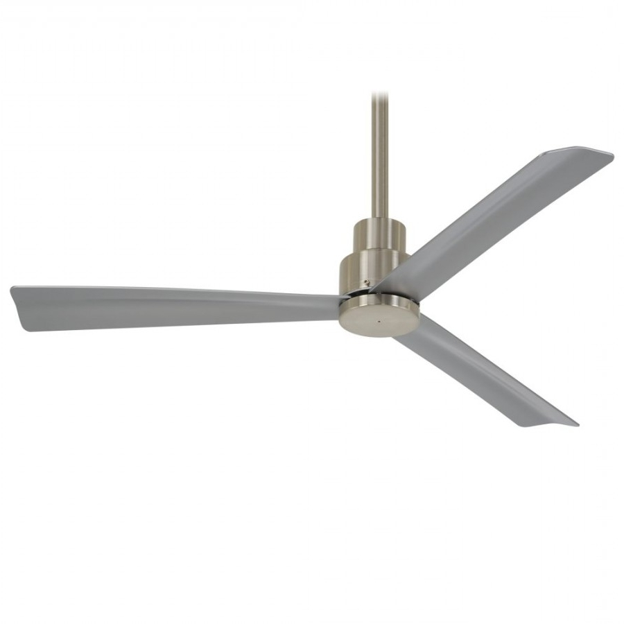 Minka Aire F786 Bnw Simple Led Light 44 Inch Outdoor Ceiling Fan In Intended For 2018 44 Inch Outdoor Ceiling Fans With Lights (View 11 of 20)