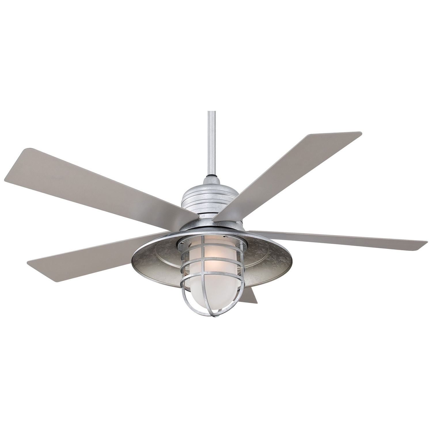 Minka Aire Rainman Galvanized 54 Inch Blade Indoor/outdoor Ceiling Intended For Trendy Outdoor Ceiling Fans With Galvanized Blades (View 6 of 20)