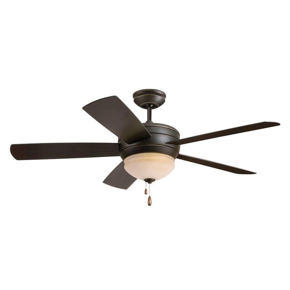 Modern Outdoor Ceiling Fans With Lights Regarding Current Emerson Summerhaven 52 Inch Golden Espresso Modern Indoor/outdoor (View 14 of 20)