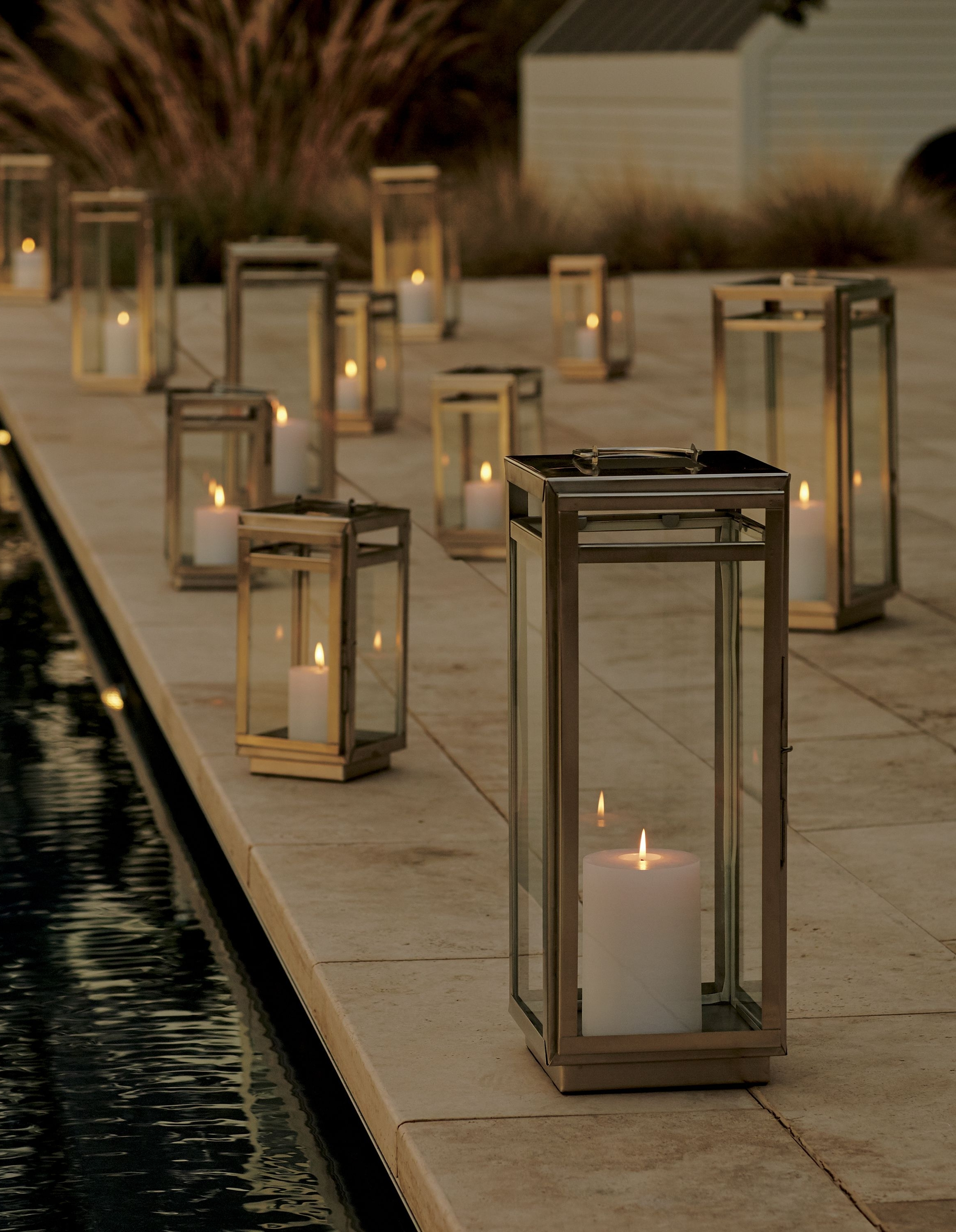 Modern Outdoor Lanterns For Latest Windowpane Lanterns Let It Shine In Handcrafted Steel With A Modern (View 15 of 20)