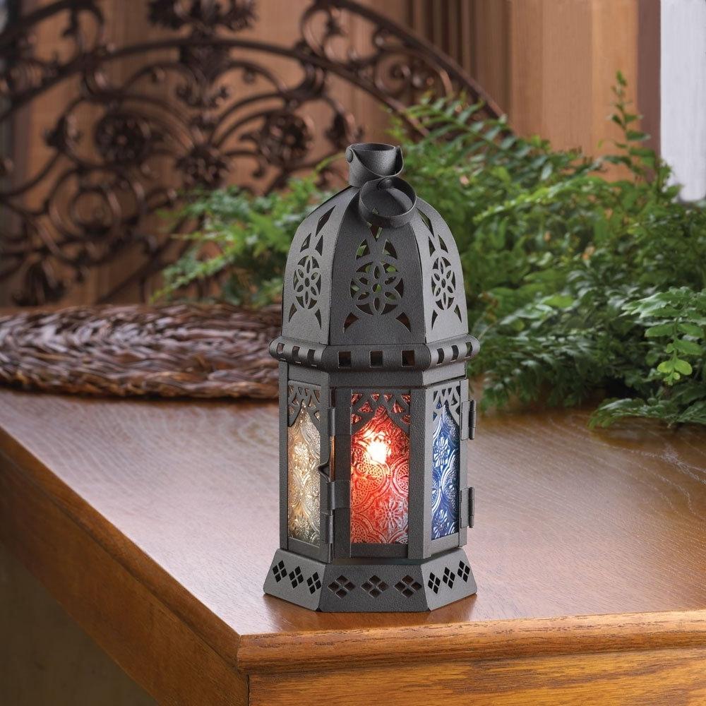 Moroccan Lantern Candle, Iron Outdoor Lanterns Moroccan Decor Inside Preferred Moroccan Outdoor Lanterns (View 11 of 20)