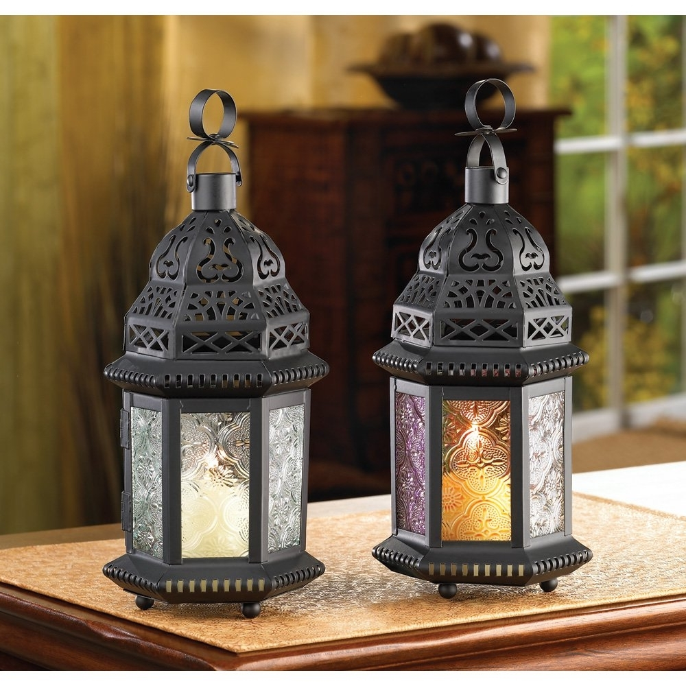 Moroccan Lantern Decor, Multi Colored Glass Outdoor Lanterns For Throughout Well Known Outdoor Lanterns Decors (View 6 of 20)