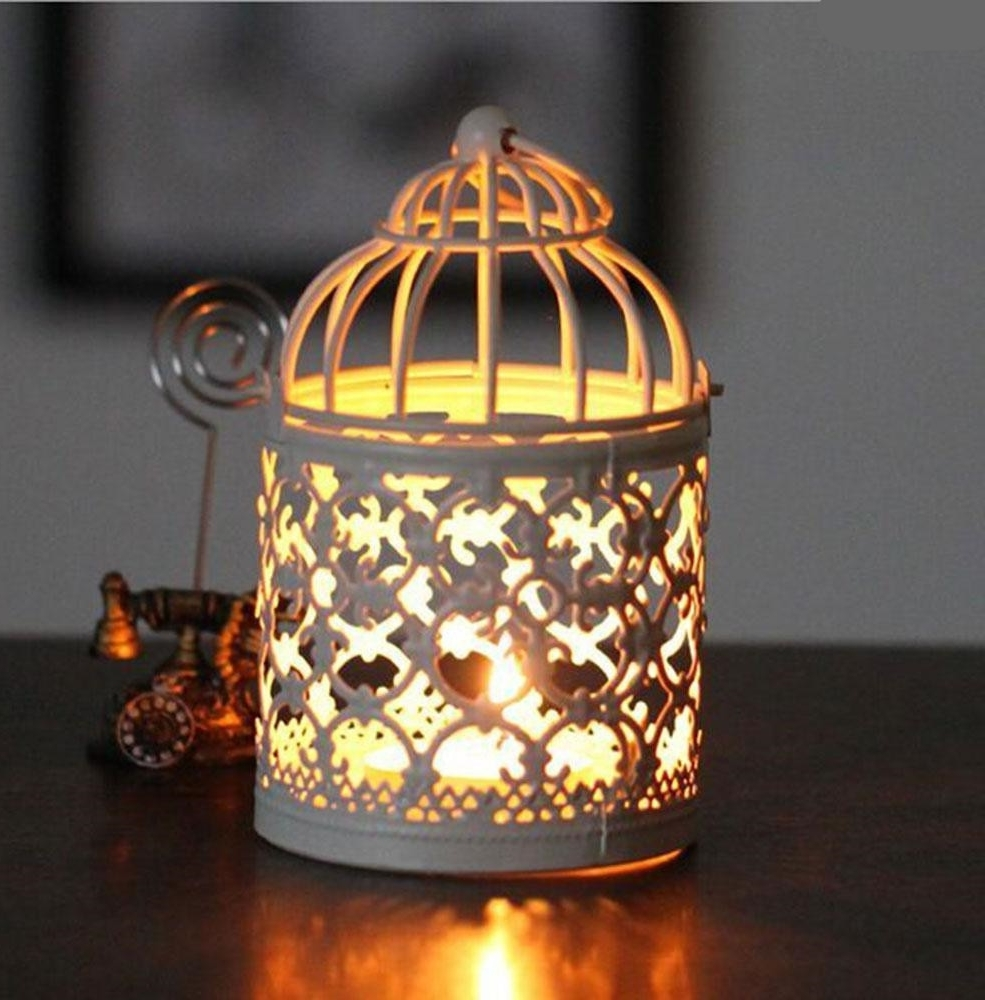 Moroccan Outdoor Electric Lanterns In Well Known Birdcage Decorative Moroccan Lantern Votive Candle Holder Hanging (View 11 of 20)